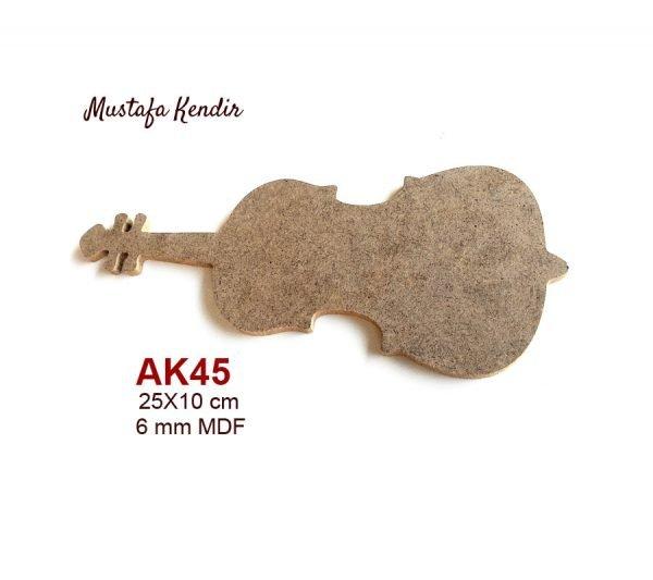 Ak45 Keman Ebat25x10 Cm Malzeme6 Mm Mdf