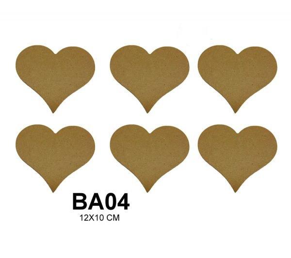 BA04 Kalp Bardak Altlığı