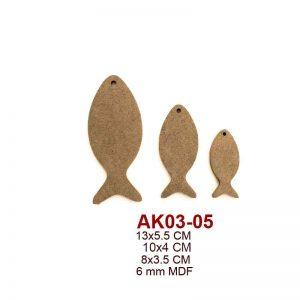 AK03-05 Üçlü Balık Seti 3