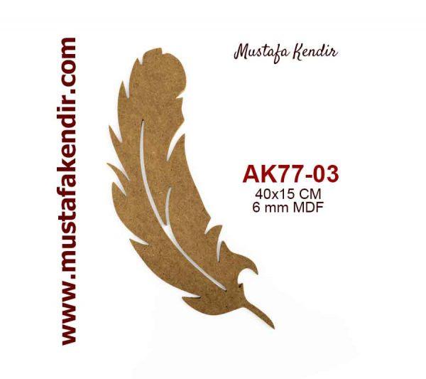 Ak77 03 Tüy Ebat 40x15 Cm Malzeme 6 Mm Mustafa Kendir