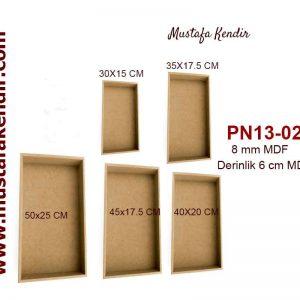 PN13-02 Dikdörtgen Kutu Panolar