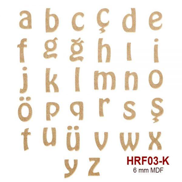 HRF03-K Küçük Harf
