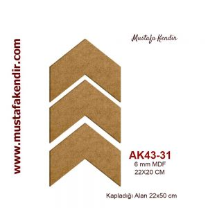 AK43-31 ÜÇLÜ OK 6