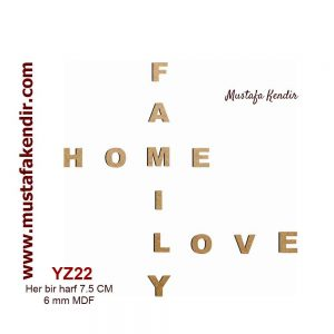 YZ22 Family- Home-Love 9