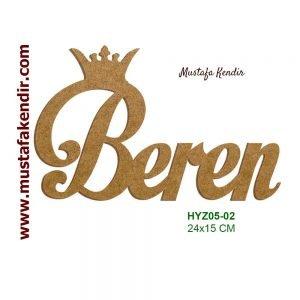 Hazır Yazı Beren HYZ05-02 3
