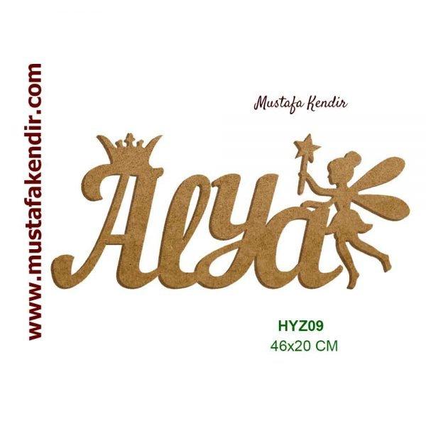 Hazır Yazı Alya HYZ09 akşap isimlik