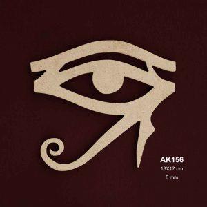 Ahşap Horosun Gözü Figürü AK156