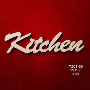 Ahşap Kitchen Yazısı YZ01-05