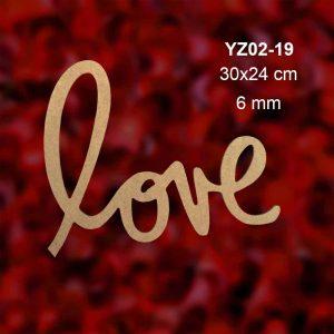 Love Yazısı YZ02-19