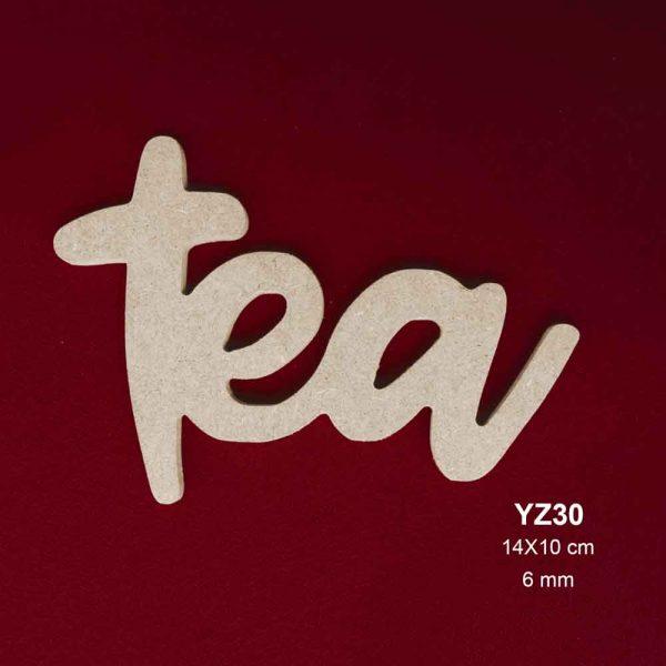 Ahşap Tea Yazısı