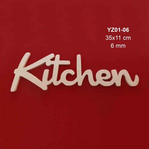 Ahşap Kitchen Yazısı