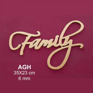 Ahşap Family Yazısı