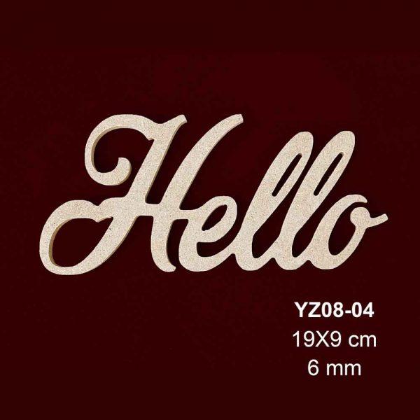 Ahşap Hello Yazısı