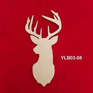 Ahşap Geyik Başı YLB03-08 7