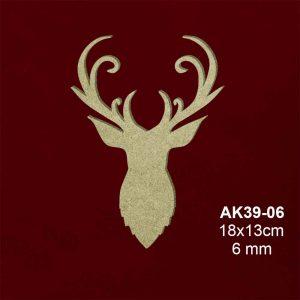 Ahşap Geyik Başı AK39-06 3