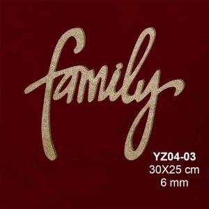 Ahşap Family Yazısı YZ04-03 1