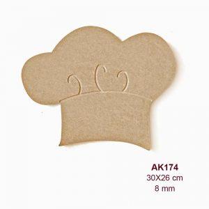 Ahşap Aşçı Kepi AK174 3