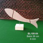 Ahşap Balık Biblo BL100-04