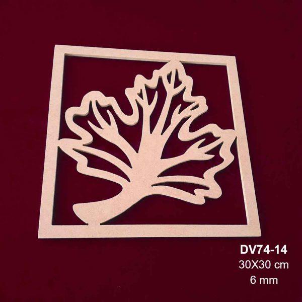 Ahşap Çınar Yapraklı Pano DV74-14
