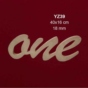 Ahşap One Yazısı YZ39