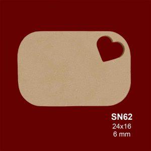 Ahşap Kalpli Sunumluk SN62