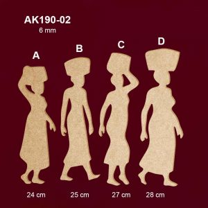 Ahşap Kadın Silüetleri AK190-02
