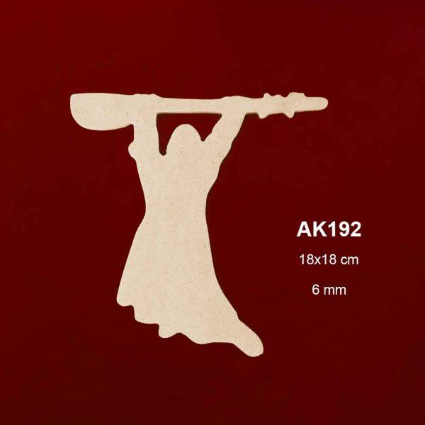 Ahşap Ozan Figürü AK192