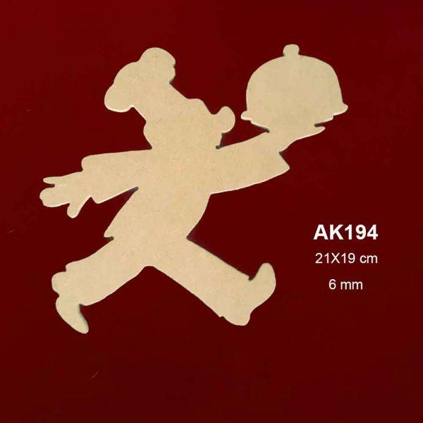 Ahşap Garson Figürü AK194