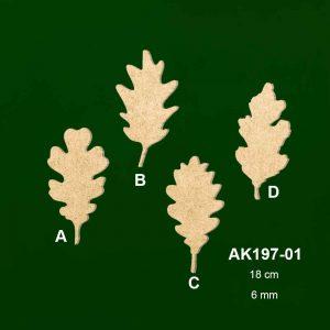 Ahşap Egzotik Yapraklar AK197-01 1