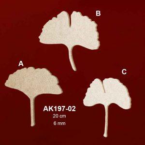 Ahşap Ginkgo Biloba Yaprakları AK197-02