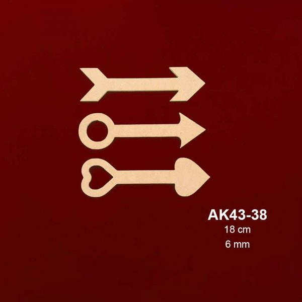 Ahşap Üçlü Ok AK ak43-38