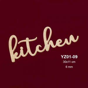 Ahşap Kitchen Yazısı Y01-09