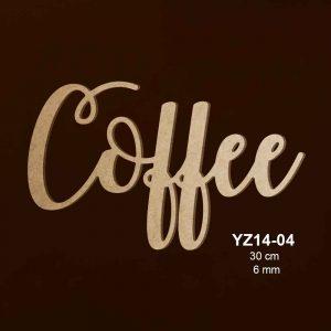 Ahşap Coffee Yazısı YZ14-04