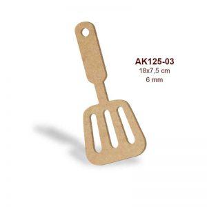 Ahşap Oluklu Mutfak Spatulası AK125-03