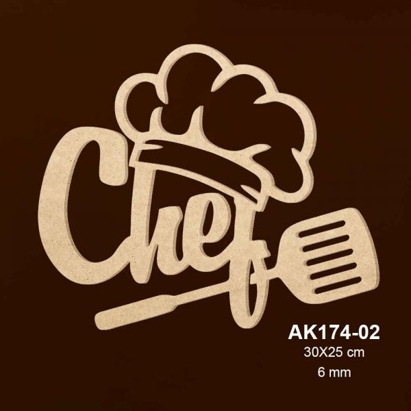Ahşap Şef Aşçı Kepi AK174-02