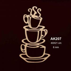 Ahşap Fincanlar AK207 2