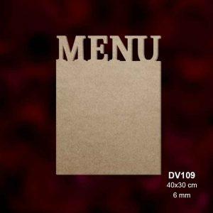 Ahşap Menü Tabalası DV109