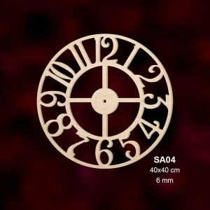 Ahşap Saat SA04