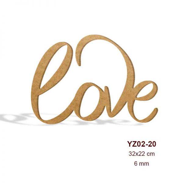 Ahşap Love Yazısı YZ02-20