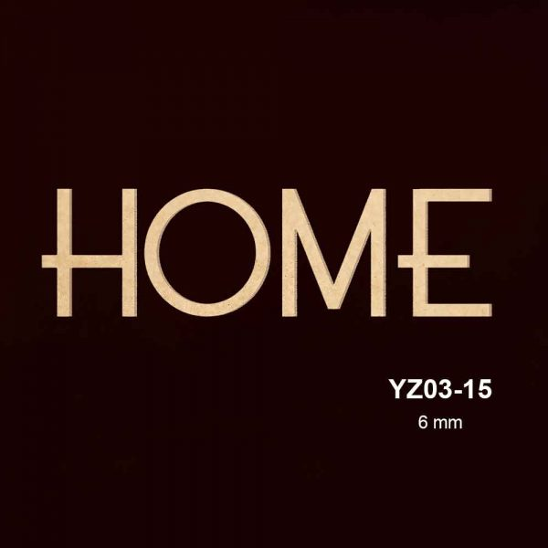 Ahşap Home Yazısı YZ03-15