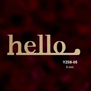 Ahşap Hello Yazısı YZ08-05