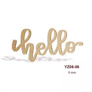 Ahşap Hello Yazısı YZ08-06