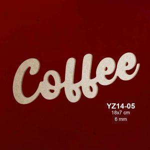 Ahşap Coffee Yazısı YZ14-05 1
