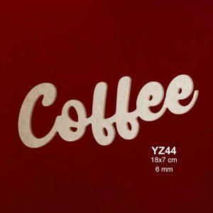 Ahşap Coffee Yazısı YZ14-05