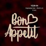 Ahşap Bon Appetit Yazsı YZ-04