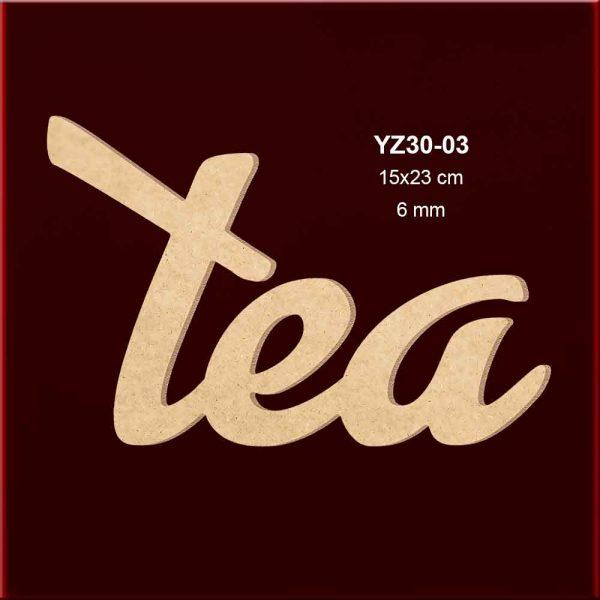 Ahşap Tea Yazısı YZ30-03