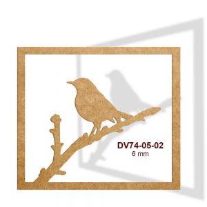 Kuşlu Çerçeve Pano DV74-05-02