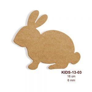 Ahşap Tavşan Figürü KIDS-13-03