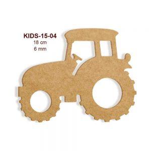 Ahşap Traktör Figürü KIDS15-04