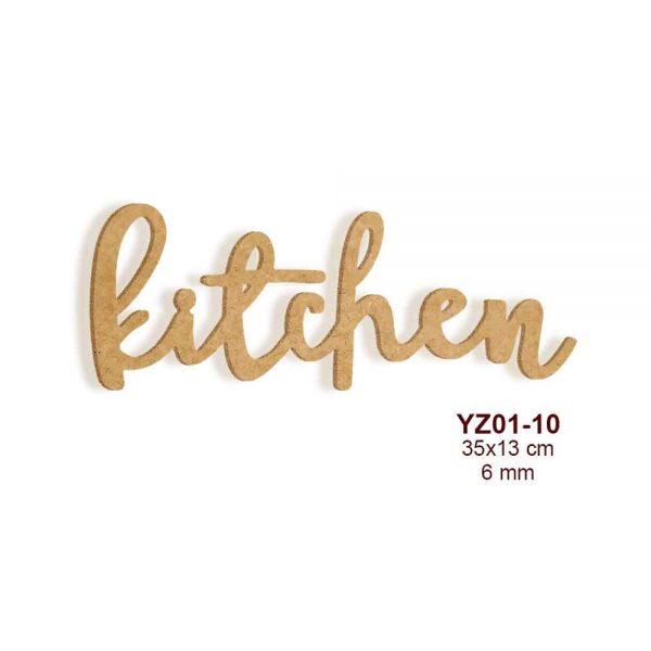 Ahşap Kitchen Yazısı YZ01-10